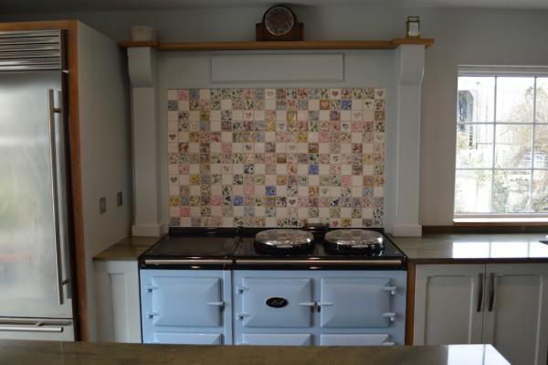Bespoke Skylight Blue And Oak Kitchen W Spencer Interiors