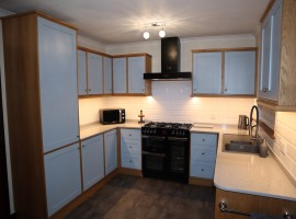 Bespoke solid Oak kitchen with painted doors