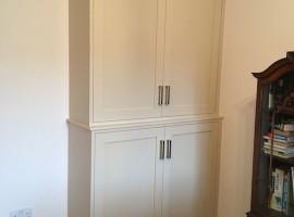 bespoke hand painted study cabinet