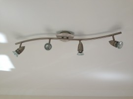 New lighting in the kitchen end